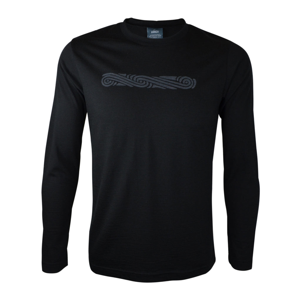 Merino Koru Long-Sleeved Top - Kapeka