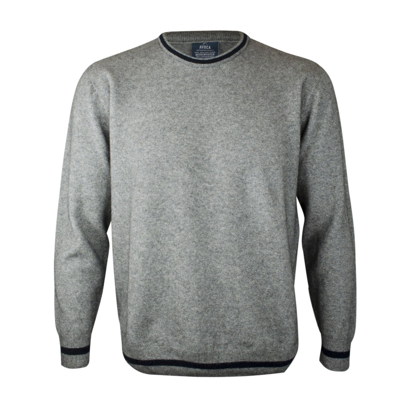 Merinosilk Crew Neck Sweater - Kapeka NZ