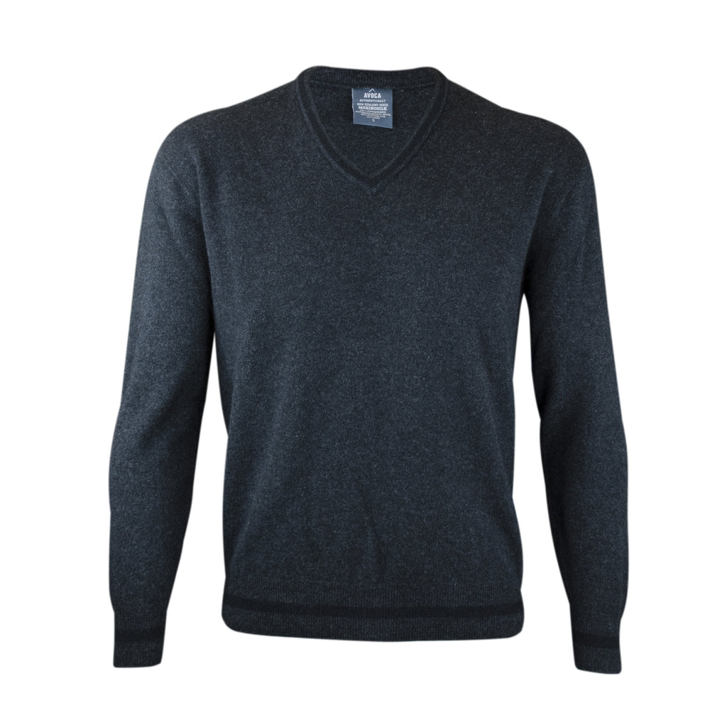 Merinosilk Bold V Neck Sweater - Kapeka NZ