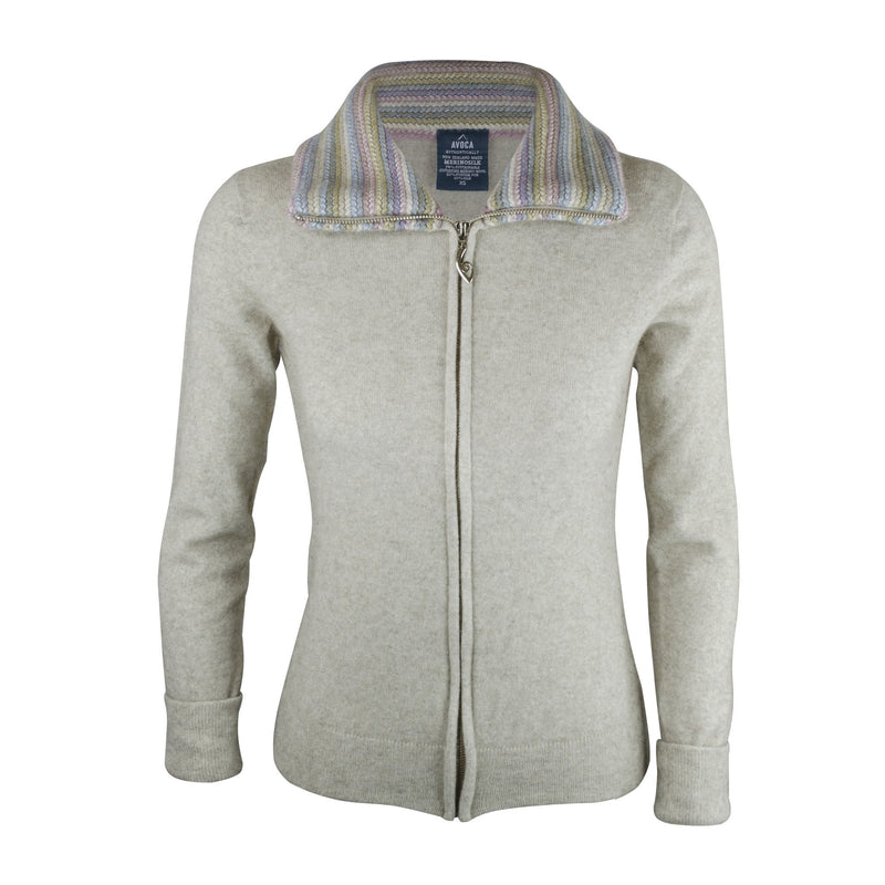 Merinosilk Stripe Trim Jacket - Kapeka NZ