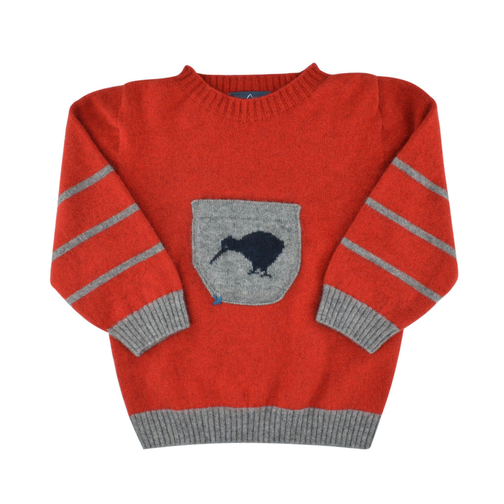 Kids Merinosilk Kiwi Sweater - Kapeka NZ
