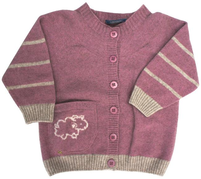 Kids Merinosilk Sheep Cardigan - Kapeka NZ