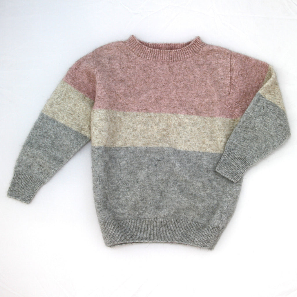Pink Merino Possum kids Sweater