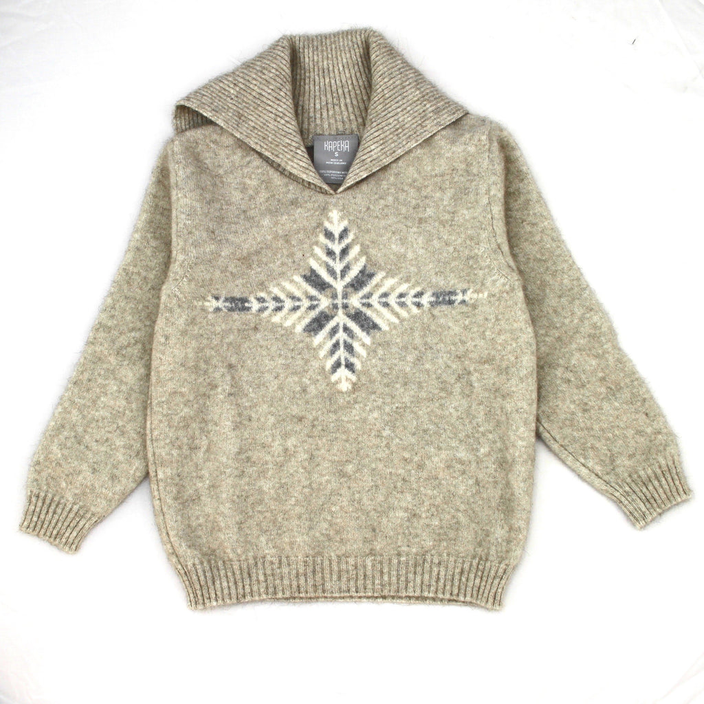 Kids Merinosilk Silver Fern Sweater - merino possum - kapeka nz