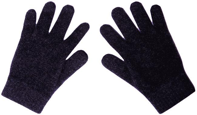 Dark Blue Merinosilk Gloves - Possum Merino