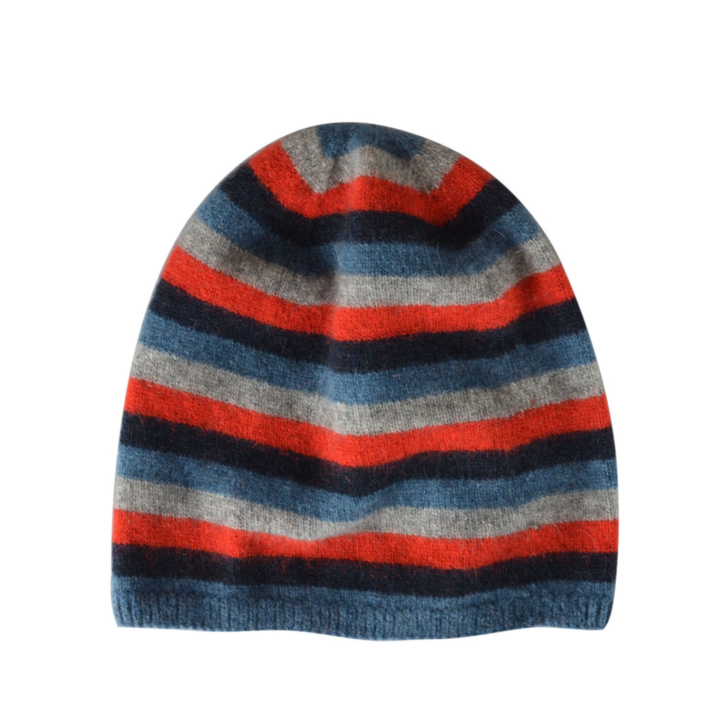Kids Multicolour Striped Beanie - Kapeka NZ