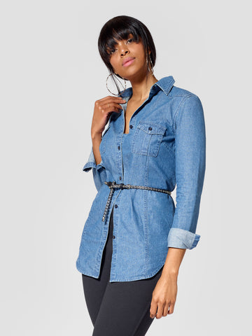 Tall Denim Shirt Tall Moi Tall Womenswear