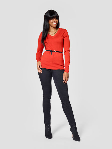 Tall V-Neck Sweater Front View