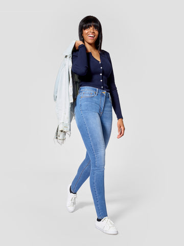 Light Blue Tall Skinny Jeans - Inseams 36, 37, 38 inches