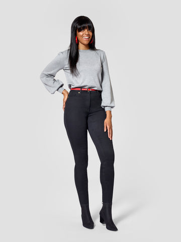 Premium Black Tall Skinny Jeans -Inseams 36, 37, 38 inches