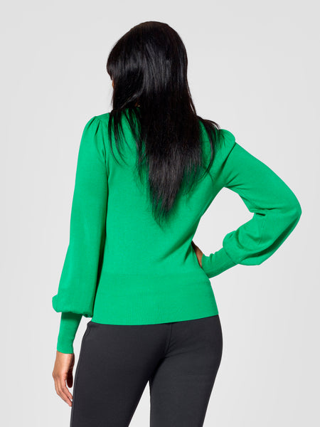 Back view of tall sweater for tall women