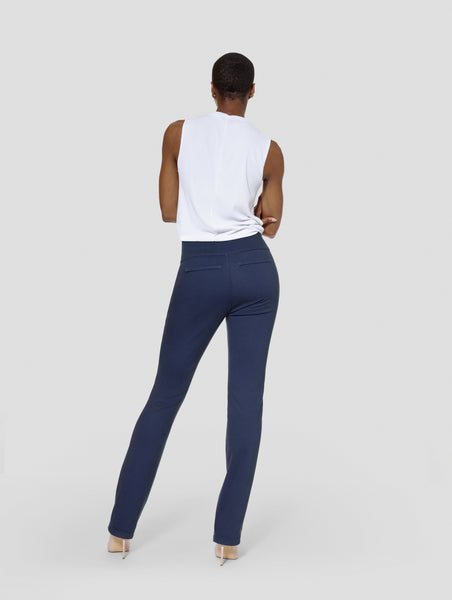 Tall Kimora Gray/Navy Blue Reversible Straight Pant