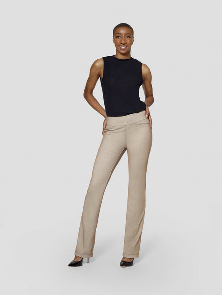 Brown Reversible Bootcut Pant Tall Moi Tall Womenswear