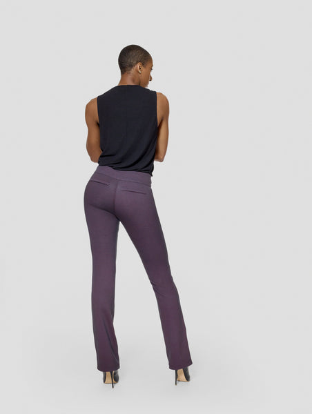 Burgundy Reversible Bootcut Pant Tall Moi