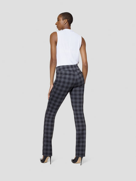 Tall Kimora Gingham/Black Reversible Straight Pant