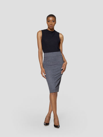 Tall Reversible Uma Plaid/Black Skirt TallMoi