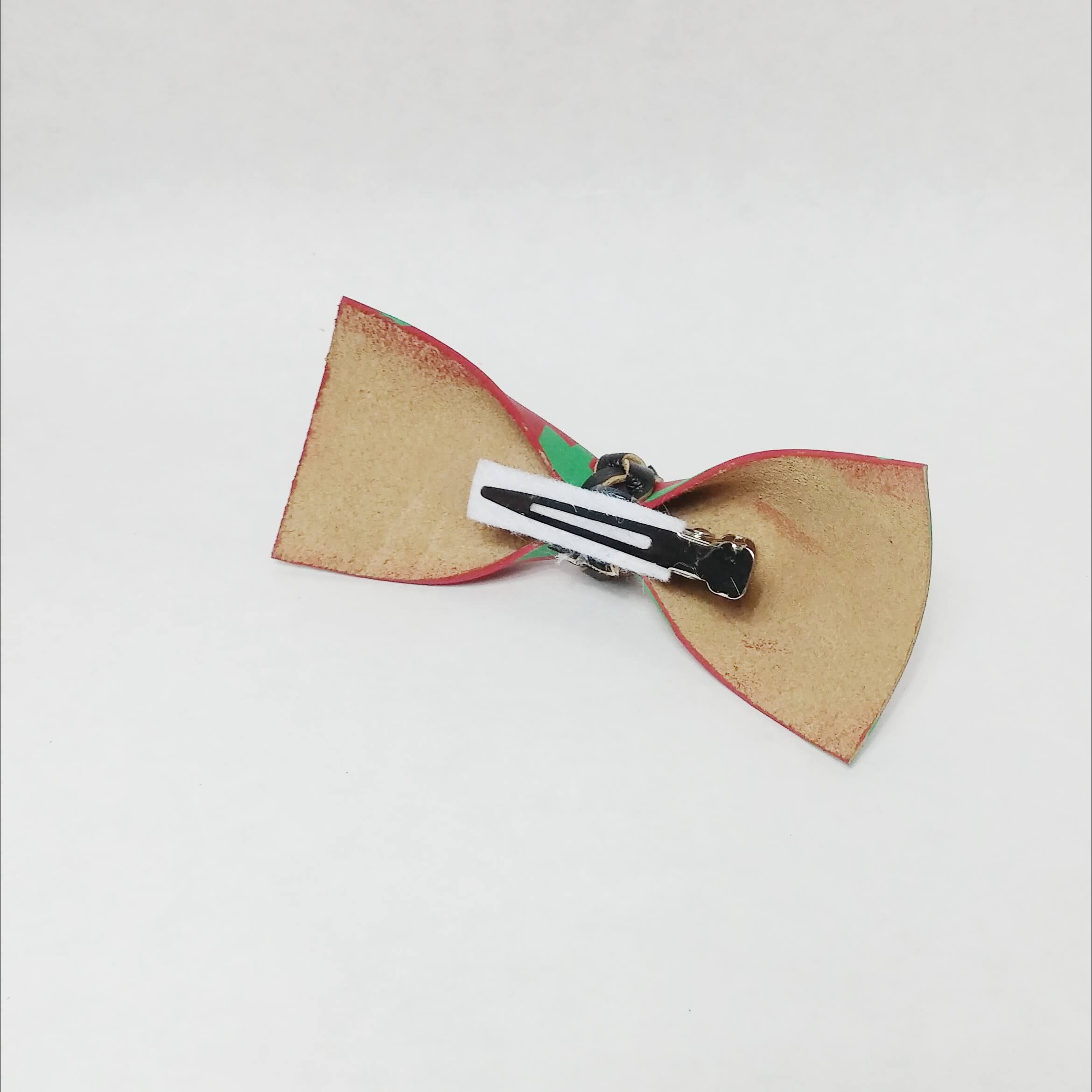 Christmas Leather Bows-Boys