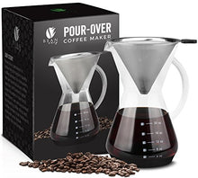 Load image into Gallery viewer, Bean Envy Pour Over Coffee Maker - 20 - oz - Gulf Coast Coffees