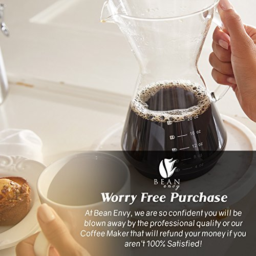 Bean Envy Pour Over Coffee Maker - 20 - oz - Gulf Coast Coffees