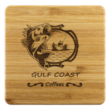 Load image into Gallery viewer, Bamboo Coaster - Gulf Coast Coffees