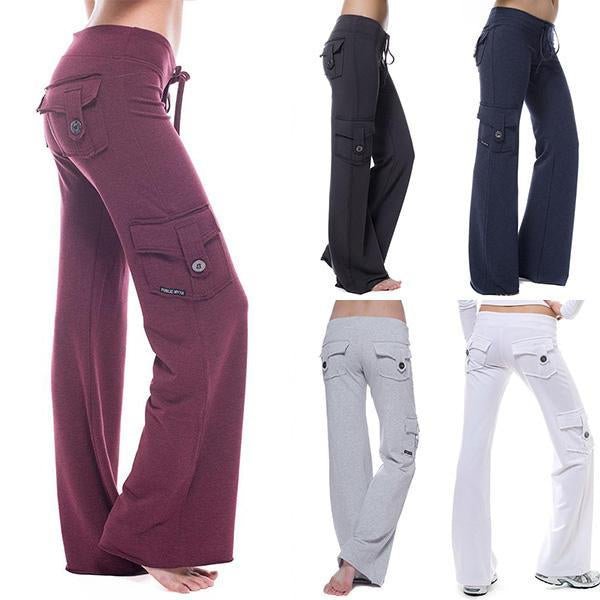 Eco-friendly Bamboo Yoga Flare Pants with Special Pocket