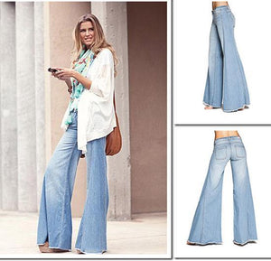 70s Hip Hugger Elephant Bell-bottom Jeans