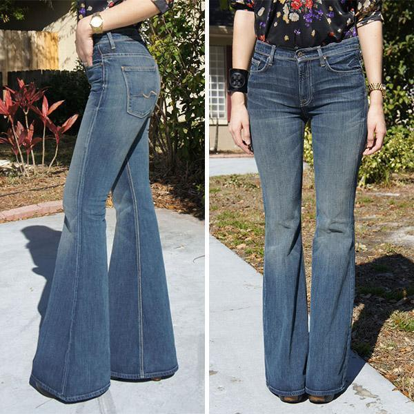 Vintage Organic Denim Elephant Bell Bottom Jeans