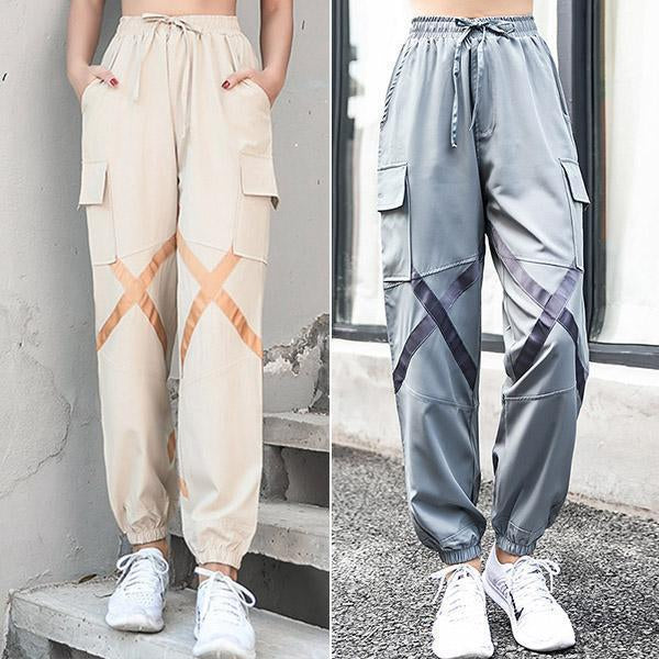 Casual Beam Foot Cargo Harem Pants
