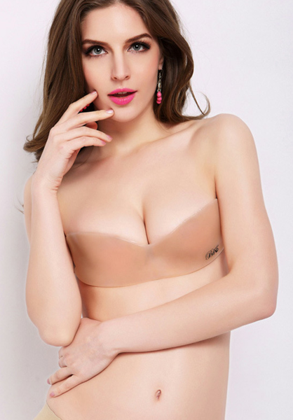One Piece Strapless Invisible Bra