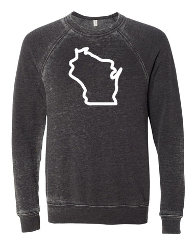 Wisconsin Acid Burn Sponge Crew Neck Sweat