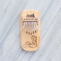 Cowboy Boots Engraved Thumb Piano
