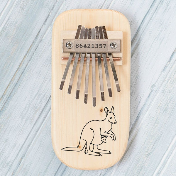 Kangaroo Engraved Thumb Piano