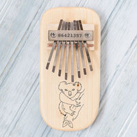 Koala Bear Engraved Thumb Piano