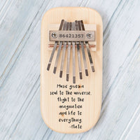 Plato Quote Engraved Thumb Piano