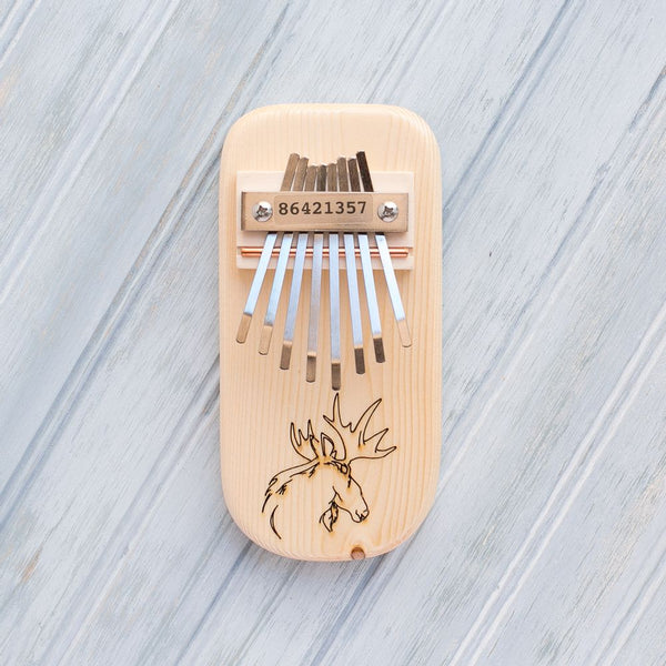 Moose Engraved Thumb Piano