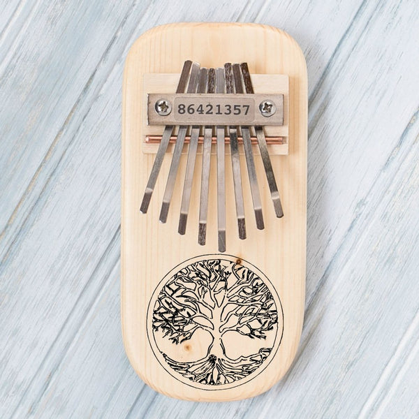 Tree of Life Engraved Thumb Piano