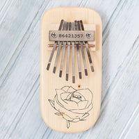 Rose Engraved Thumb Piano