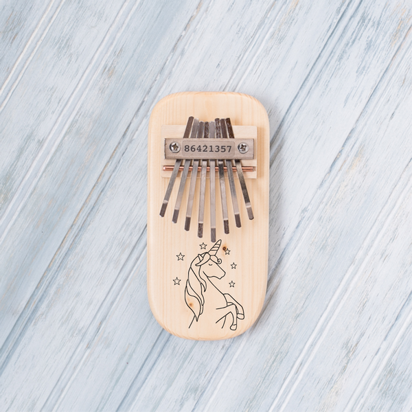 Unicorn Engraved Thumb Piano