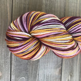 Straw Flowers Self Striping Sock Yarn