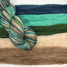 Load image into Gallery viewer, Still Waters Self Striping Sock Yarn