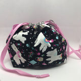 Knitting Llama DrawString Project Bag