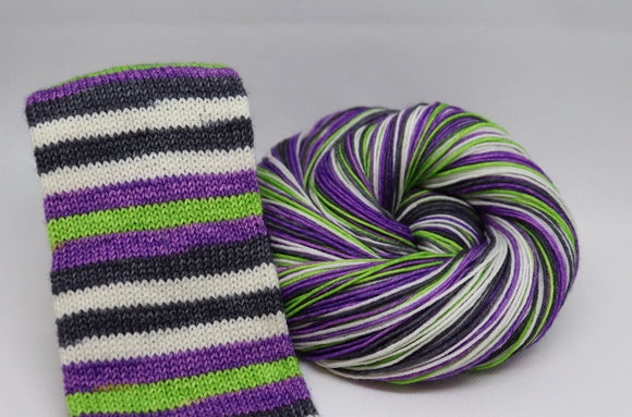 Wicked Beetle Juice Self Striping Sock Yarn