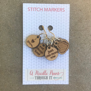 I Love Knitting Stitch Markers