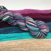 Load image into Gallery viewer, Berry Smoothie Self Striping Sock Yarn