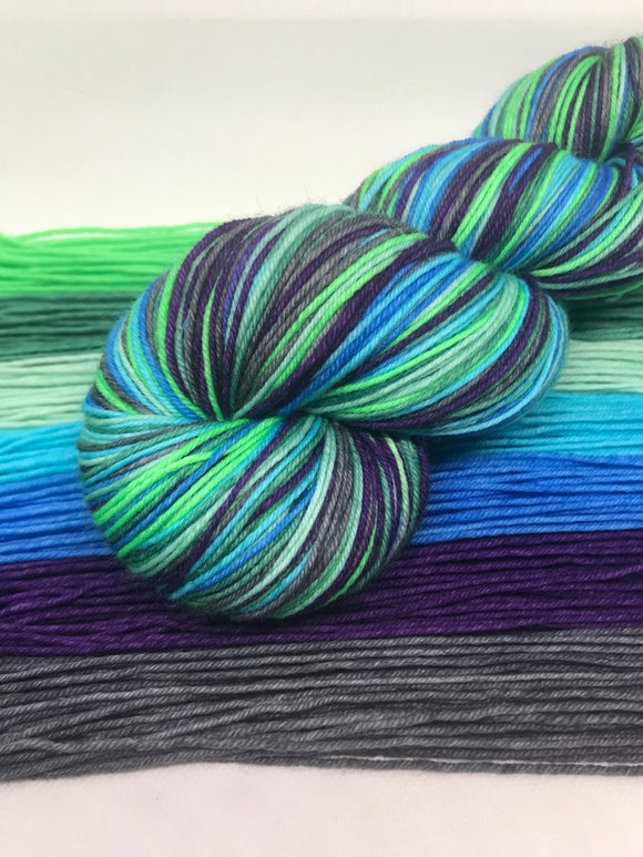 Sea Monkeys Self Striping Sock Yarn