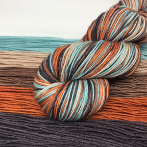Paper Wings Self Striping Sock Yarn