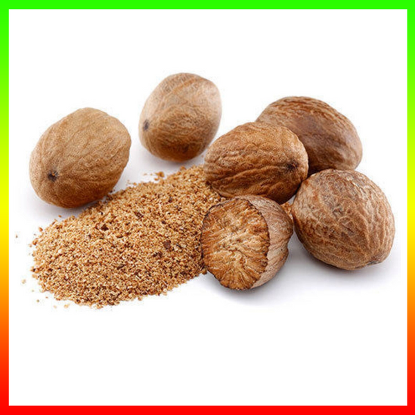 Nut'n-egg (Patois)    Nutmeg (English)