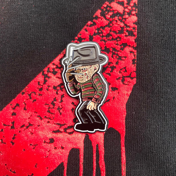 "Freddy Krueger Killin' the Game Soft Enamel Pin (1.5"" inch)"
