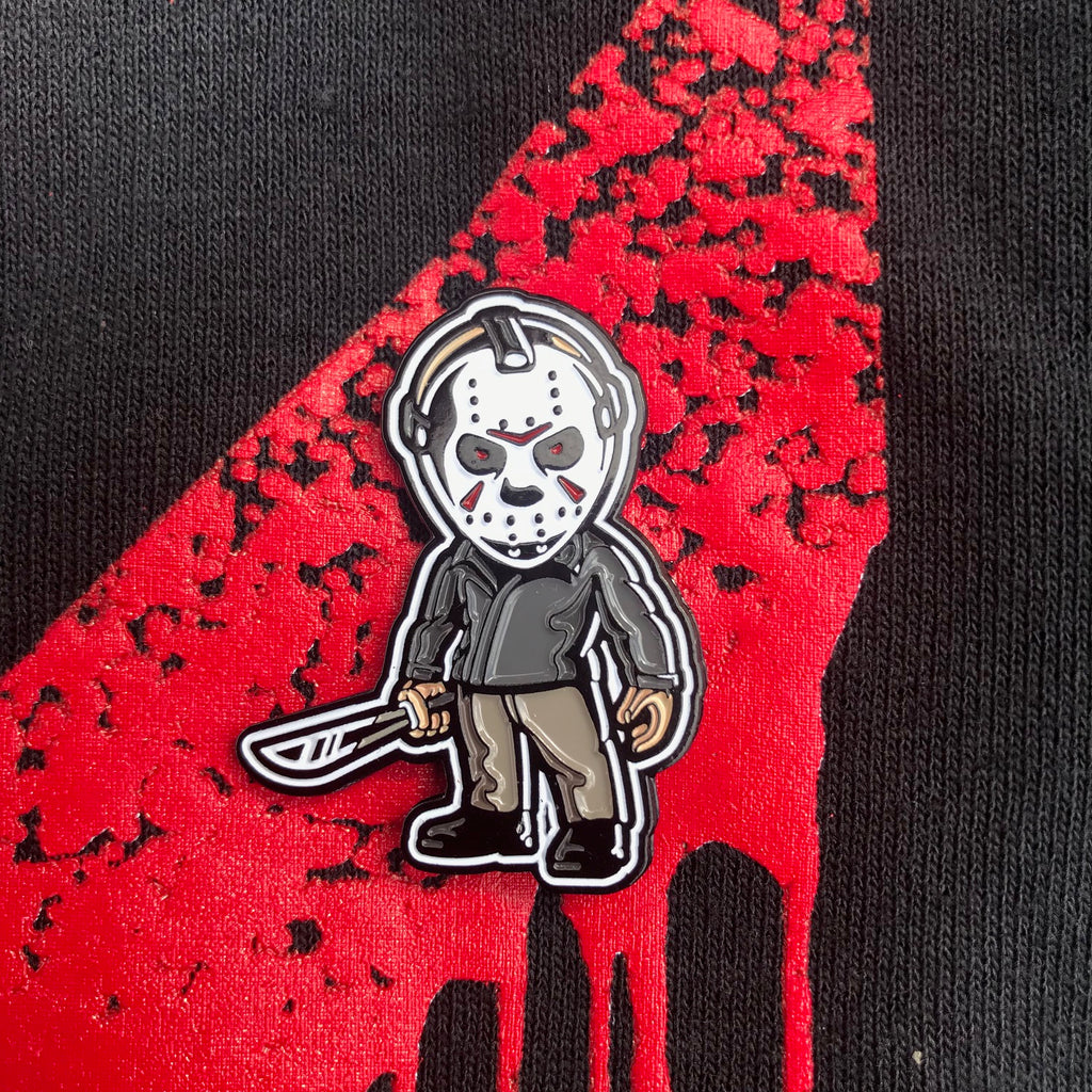 "Jason Voorhees Killin' the Game Soft Enamel Pin (1.5"" inch)"