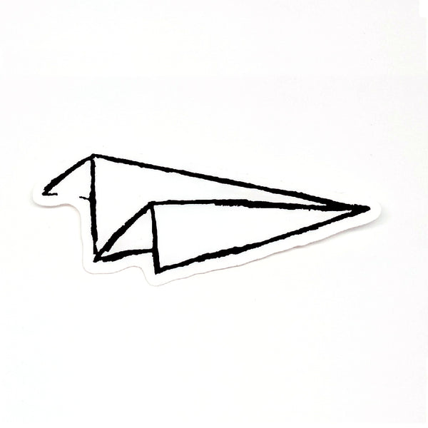 Paper Airplane Sticker